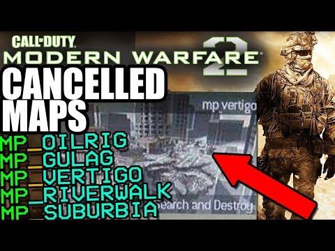 MW2'S SECRET Canceled Maps - Modern Warfare 2 DELETED Multiplayer   Oilrig,  Gulag, Vertigo, etc