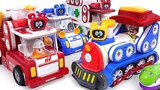 Titipo train stopped! Let's go Tuktakman Police car, Ambulance, Train #PinkyPopTOY