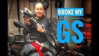 BMW R1200GS - Rear shock failure + Fork recall update