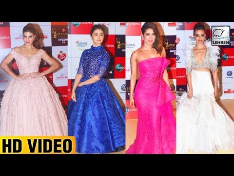 BEST Dressed Actresses At Zee Cine Awards 2018 Red Carpet | Priyanka Chopra | Alia Bhatt | LehrenTV