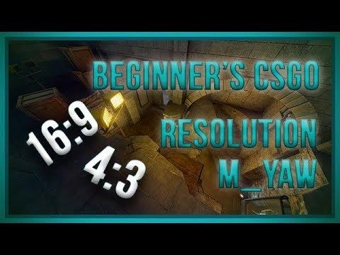 zorlaKOKA Beginner's CSGO - Resolution And M_yaw
