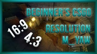 zorlaKOKA Beginner's CSGO - Resolution And M_yaw