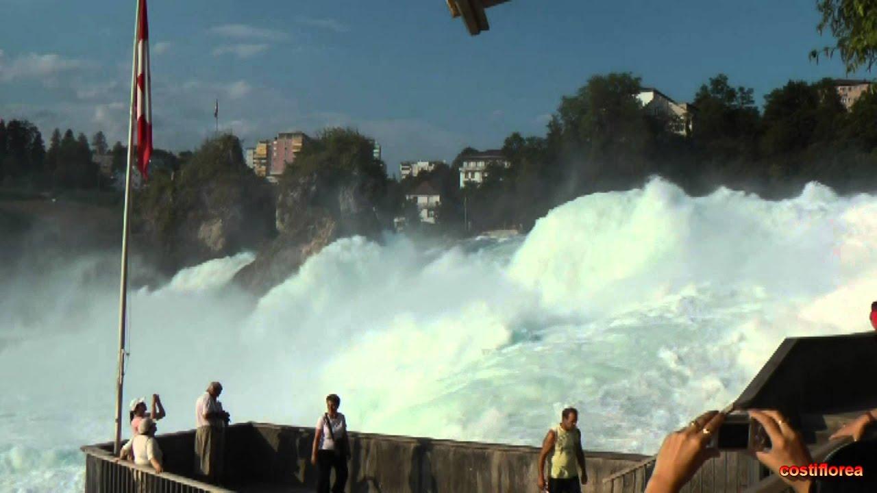 Rhine Falls Schaffhausen Switzerland Travel Video Hd