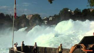 Rhine Falls Schaffhausen - Switzerland - Travel video - HD(The Rhine Falls (Rheinfall in German) is the largest plain waterfall in Europe. The falls are located on the Upper Rhine between the municipalities of Neuhausen ..., 2013-07-28T07:41:26.000Z)