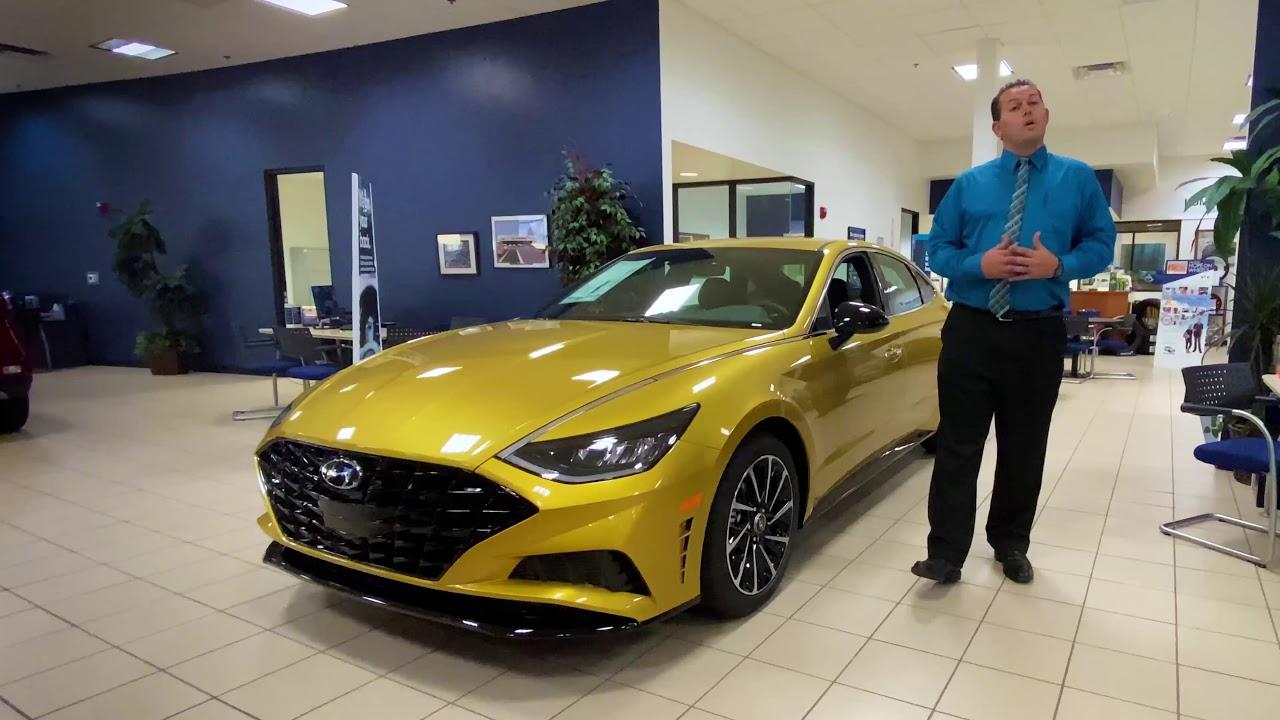 2020 Hyundai Sonata In Glowing Yellow Youtube
