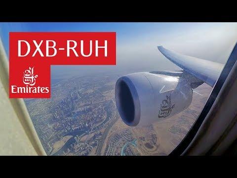 Emirates 777-300ER Dubai to Riyadh | طيران الإمارات من دبي إلى الرياض