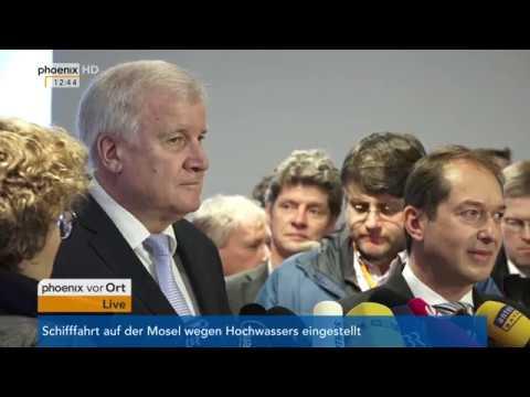 Alexander Dobrindt und Horst Seehofer zur Klausurtagung der CSU am 04.01.18