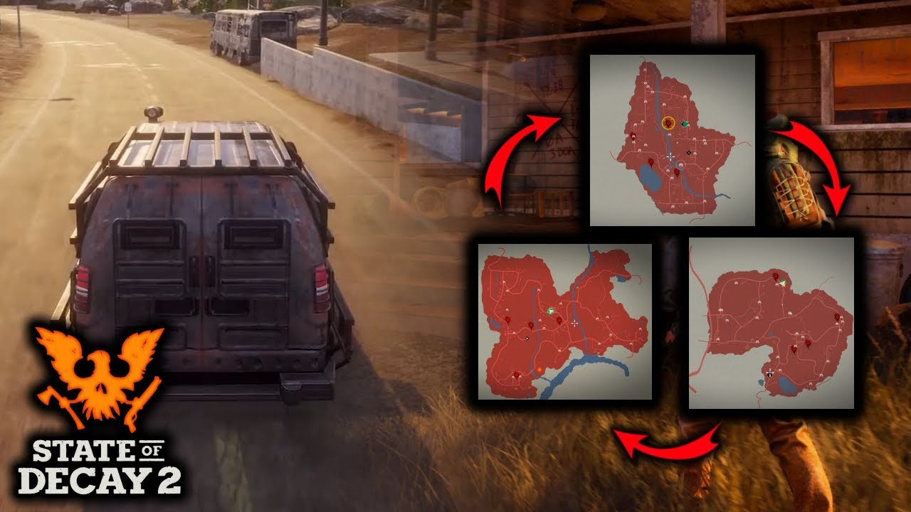NEW MAP DETAILS  Moving MAP to MAP  Building New Bases   State of     NEW MAP DETAILS  Moving MAP to MAP  Building New Bases   State of Decay 2