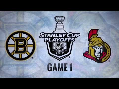 Boston Bruins vs. Ottawa Senators. Game 1 (12.04.2017) Highlights (60 fps)