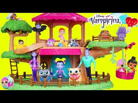 Vampirina Disney Jr Tree House McDonalds Drive Thru Prank Jail Rescue Game Puppy Dog Pals Dollhouse!