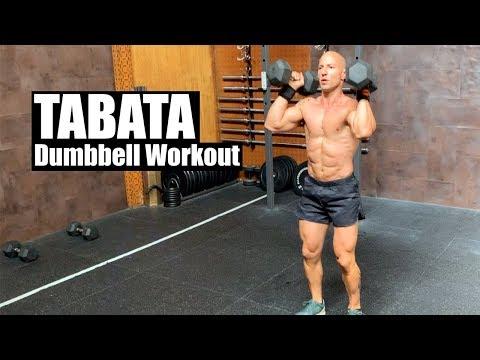 Full-Body TABATA Dumbbell Workout