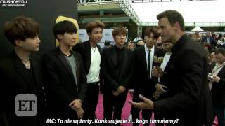 [POLSKIE NAPISY] 170522  Entertainment Tonight Interview with BTS - BBMAs 2017