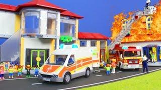 Playmobil Film deutsch: Kinder in der Schule, Familie & Feuerwehrmann Kinderfilme