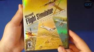 Microsoft Flight Simulator X+Deluxe Edition 2006 Video Game Unboxing-Overview HD 1080P