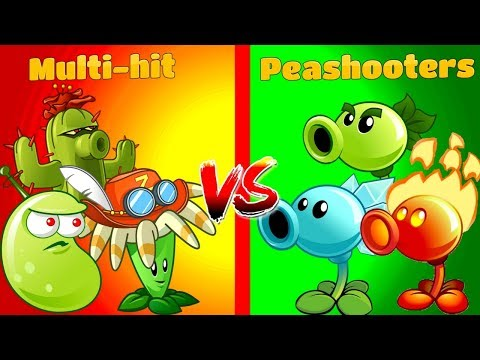 Plants vs Zombies 2 Peashooters vs Multi Hit | Every Plant Power Up | PVZ 2 Primal