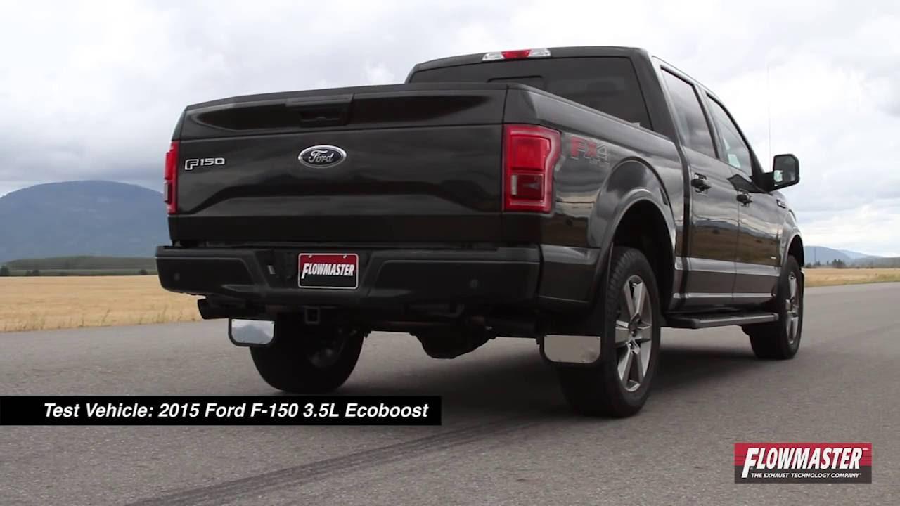 2015 2016 ford f 150 3 5 ecoboost performance exhaust system kit flowmaster outlaw cat back. Black Bedroom Furniture Sets. Home Design Ideas