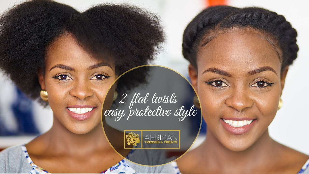 how to: 2 flat twists on natural hair | protective style