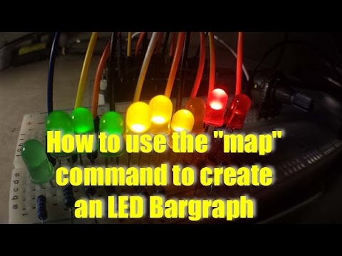 How to use the Arduino Map Command to create a Bargraph  YouTube