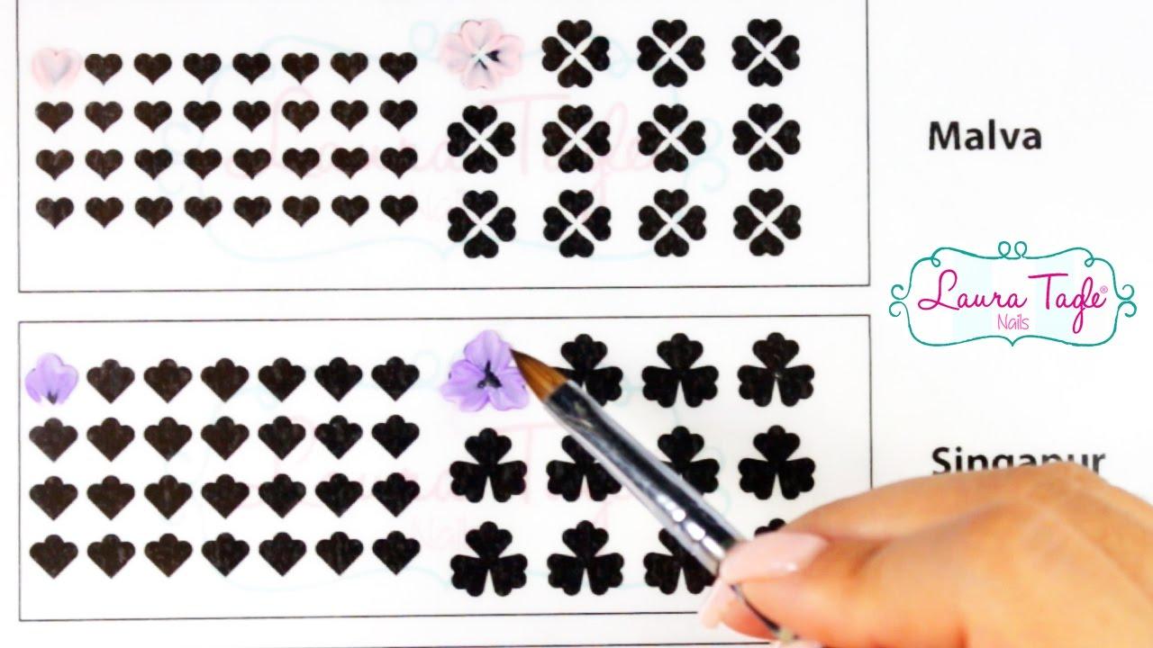 Aprende Flores 3d Para Uñas Imprime Gratis La Planilla