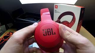 Распаковка Bluetooth наушников JBL E55BT