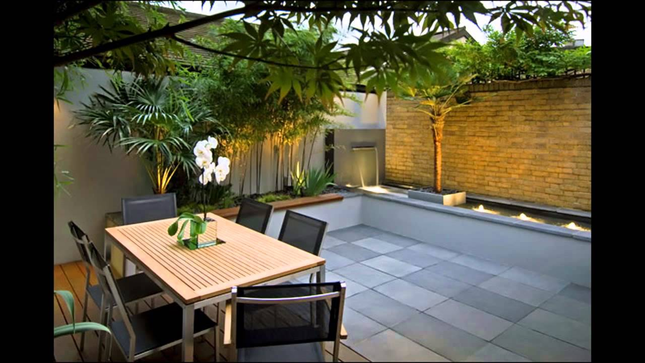 Exotic courtyard garden design ideas - YouTube
