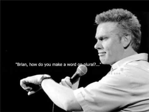 "Brian Regan - ""Stupid In School"" (With some LYRICS)"