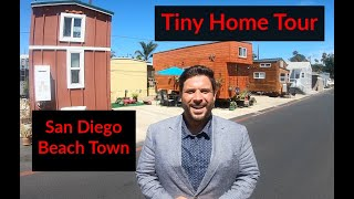 Tiny Home Tour. Park Model W/ Loft In Beach Community. Encinitas, San Diego, Ca.
