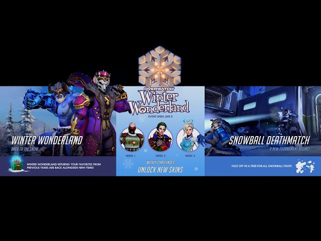 Overwatch Winter Wonderland 2019 Skins and Rewards
