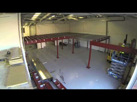 Constructing a mezzanine floor in record time - timelapse video