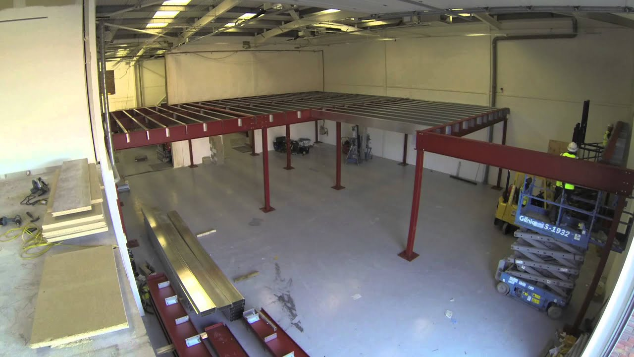 Constructing a mezzanine floor in record time - timelapse video - YouTube