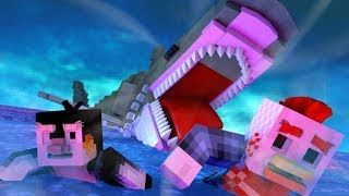 final shark attack battle animated minecraft animation