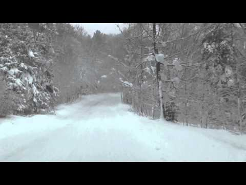A winter drive up to Copper Harbor