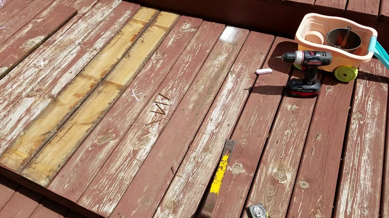 cheapest way to fix old deck, no money!!!