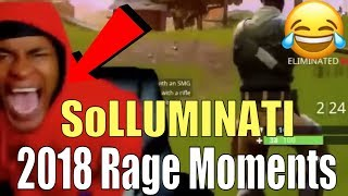 SoLLUMINATI FUNNIEST Rage Moments Of 2018   Hilarious Rage Moments (NBA 2K19, Fortnite, Reactions)