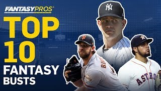 Top 10 Busts in Fantasy Baseball (2019)