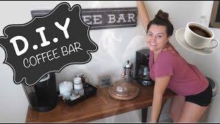DIY COFFEE BAR// COFFEE STATION IDEAS!!