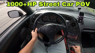 Taking My 1000+HP Supra Out For A Cruise - MK4 Supra POV Driving.