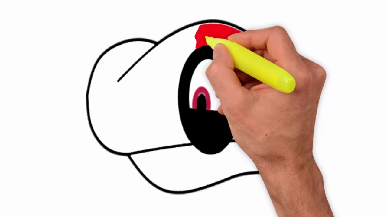 Coloring Pages-How to draw cappy from super mario odyssey ...