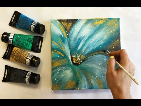 Abstract Flowers Painting On Canvas