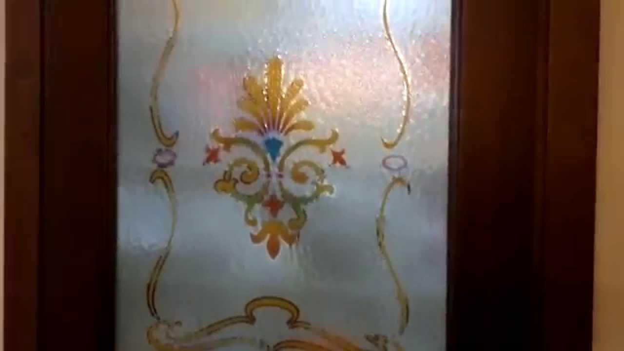 Vetrate artistiche per porte vincenzo greco youtube - Vetri colorati per finestre ...