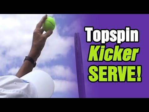 Tennis Serve - Master The Topspin (Kick) Second Serve