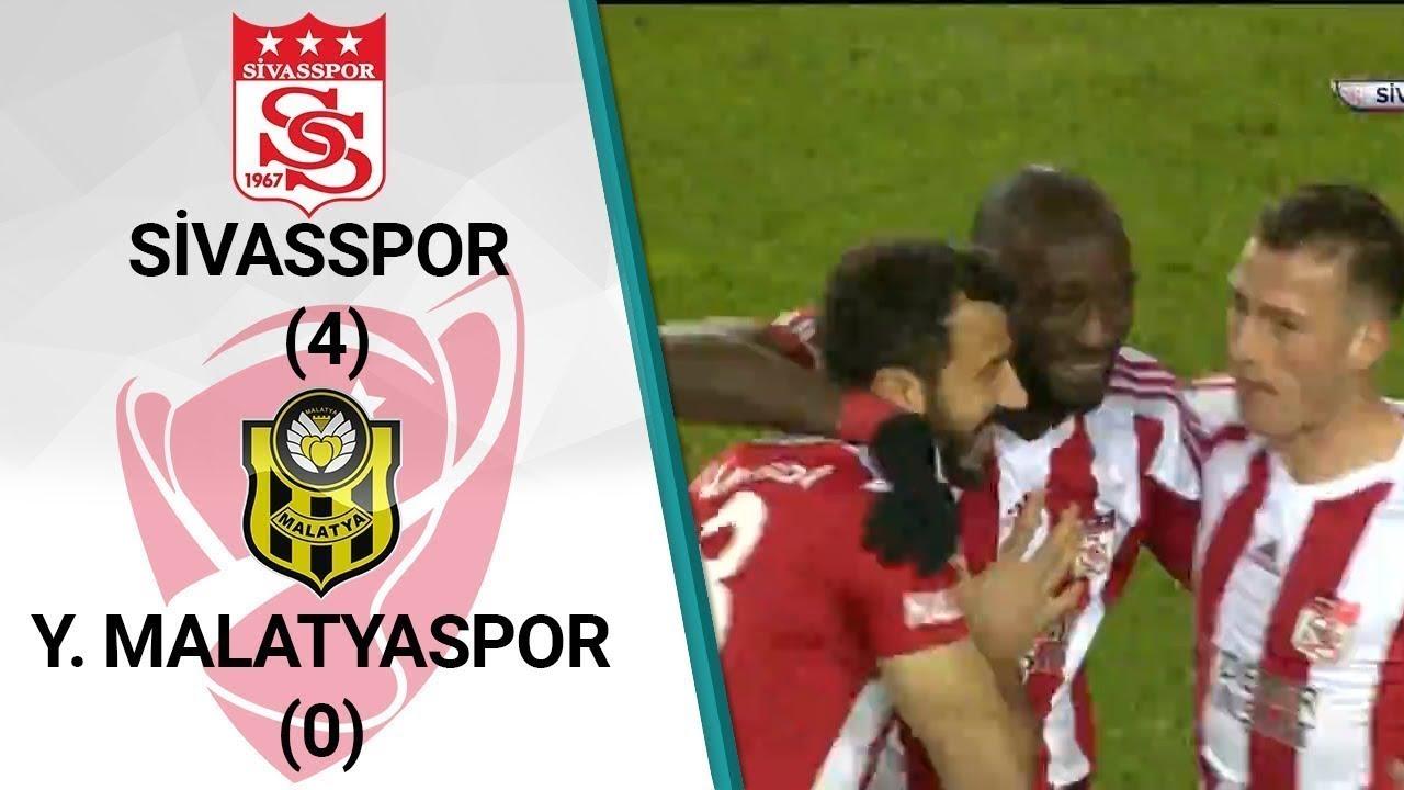 Sivasspor 4 - 0 Malatyaspor MAÇ ÖZETİ (Ziraat Türkiye Kupası Son 16 Turu İlk Maçı)