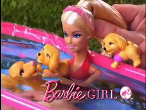 2010 Barbie Puppy Swim School With Pool Commercial Youtube