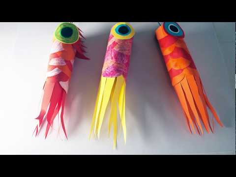How To Make A Koinobori (traditional Japanese Paper Fish)