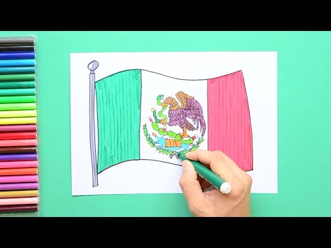 How To Draw The National Flag Of Mexico