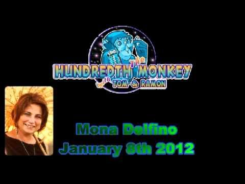 Mona Delfino on The Hundredth Monkey Radio 1-8-2012 Hour One.avi