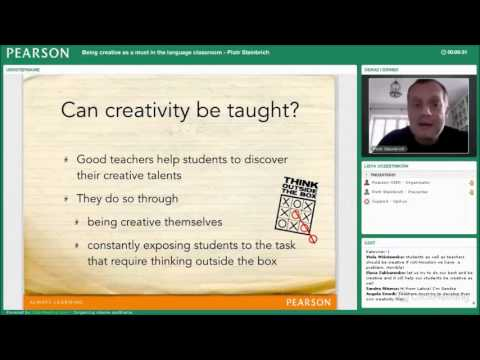 Being creative as a must in the language classroom. Piotr Steinbrich webinar