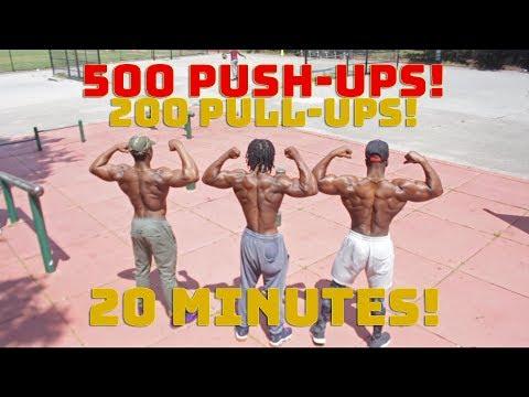 500 Push-ups & 200 Pull-ups in 20 Minutes | Calisthenics Challenge