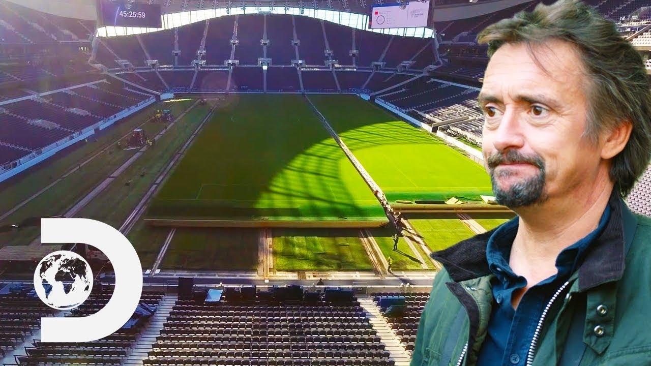 How Tottenham Stadium Moves Its Massive 9000 Tonne Pitch Richard Hammond S Big Youtube