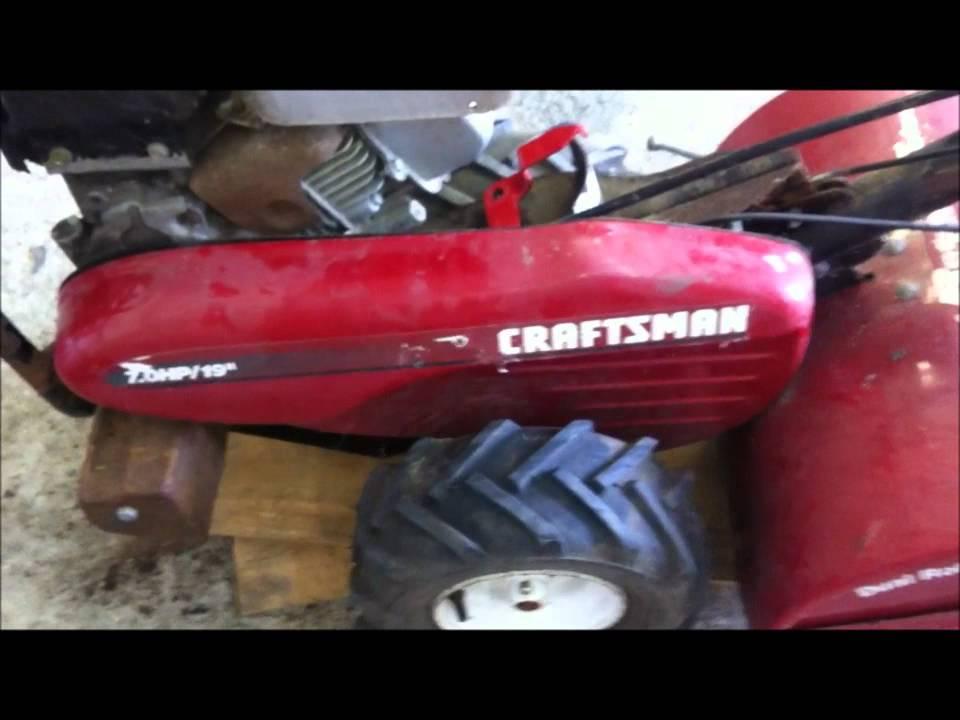 Craftsman 7HP Rear Tine Tiller Repair Part 2 YouTube